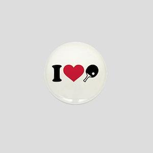 I love Ping Pong table tennis Mini Button