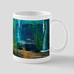 Little Mermaid holding Anemone Flower Mugs