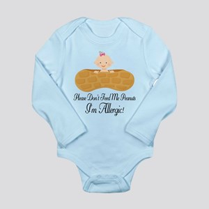 Allergic To Peanuts Allergy message Body Suit