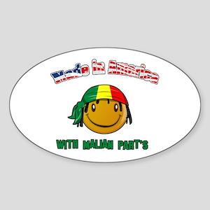 Made in America with Malian p Oval Sticker