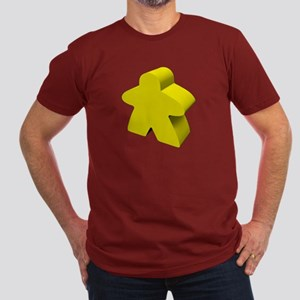Yellow Meeple Men's Fitted T-Shirt (dark)