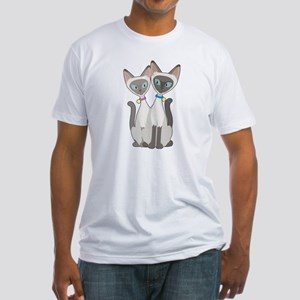 Siamese Cats Fitted T-Shirt
