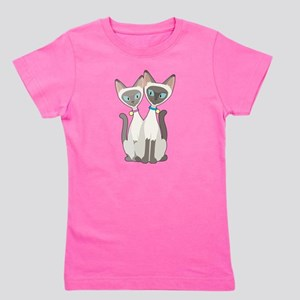 Siamese Cats Girl's Tee