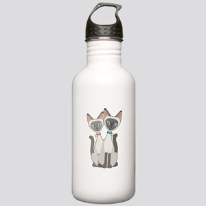 Siamese Cats Stainless Water Bottle 1.0L