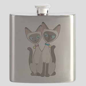 Siamese Cats Flask