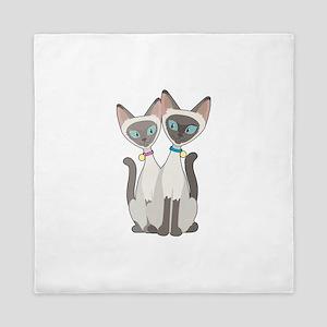 Siamese Cats Queen Duvet