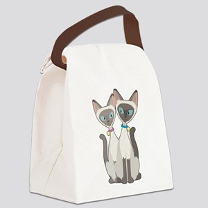 Siamese Cats Canvas Lunch Bag