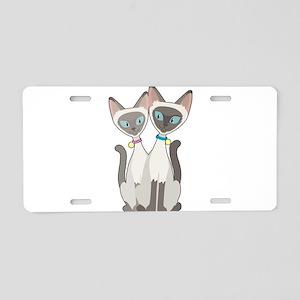 Siamese Cats Aluminum License Plate
