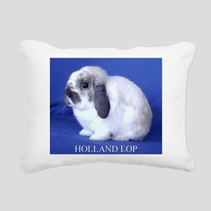Holland Lop Rabbit Rectangular Canvas Pillow