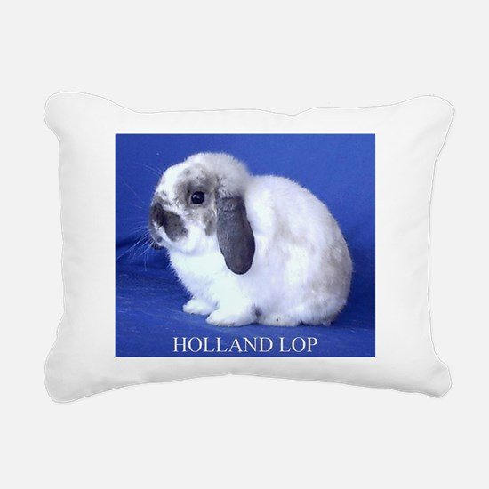 Holland Lop Rabbit.jpg Rectangular Canvas Pillow
