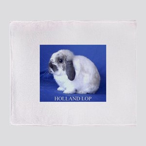 Holland Lop Rabbit Throw Blanket