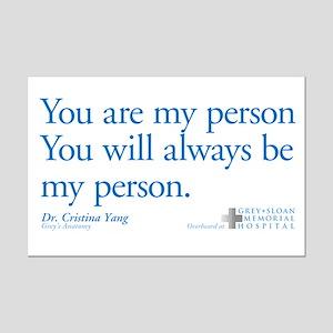 You Are My Person Mini Poster Print