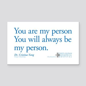 You Are My Person Rectangle Car Magnet