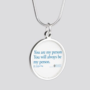 You Are My Person Silver Round Necklace
