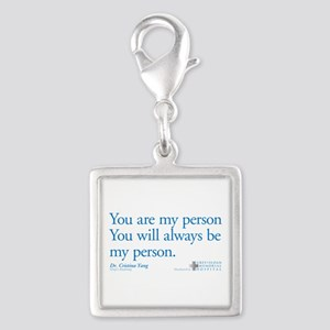 You Are My Person Silver Square Charm