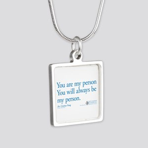 You Are My Person Silver Square Necklace