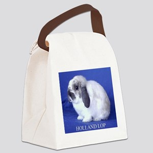 Holland Lop Rabbit Canvas Lunch Bag