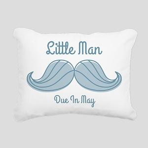 Mustache LM May Rectangular Canvas Pillow