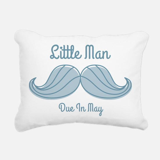 Mustache LM May Rectangular Canvas Pillow