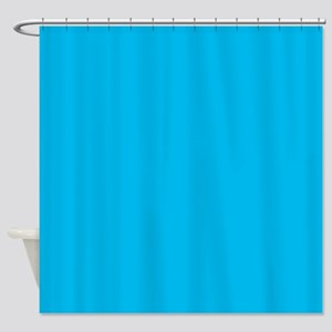 Cyan Blue Shower Curtain