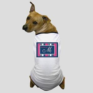 Navy Monogram Stripes Dog T-Shirt
