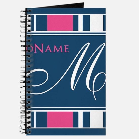 Navy Monogram Stripes Journal
