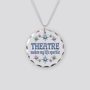 Theatre Sparkles Necklace Circle Charm