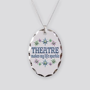 Theatre Sparkles Necklace Oval Charm