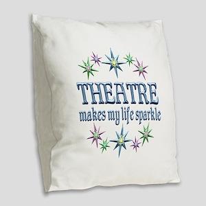 Theatre Sparkles Burlap Throw Pillow