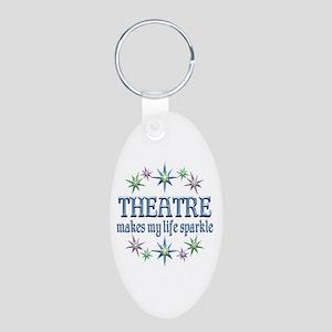 Theatre Sparkles Aluminum Oval Keychain