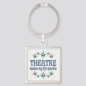 Theatre Sparkles Square Keychain