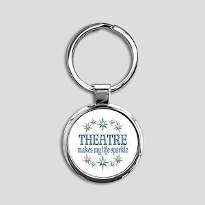 Theatre Sparkles Round Keychain