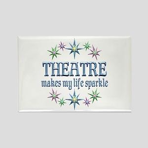 Theatre Sparkles Rectangle Magnet
