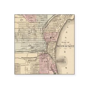 Milwaukee Gifts CafePress - Vintage milwaukee map