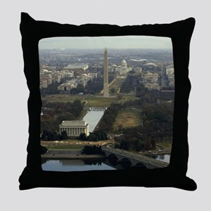 Washington DC Aerial Photograph Throw Pillow