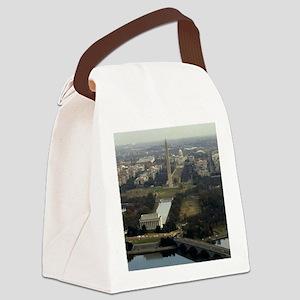 Washington DC Aerial Photograph Canvas Lunch Bag