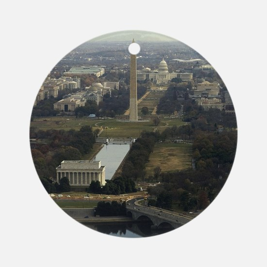 Washington DC Aerial Photograph Round Ornament
