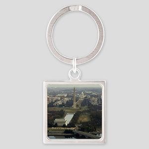 Washington DC Aerial Photograph Square Keychain