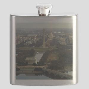 Washington DC Aerial Photograph Flask