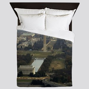 Washington DC Aerial Photograph Queen Duvet