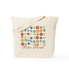 Bright Retro Floral Tote Bag