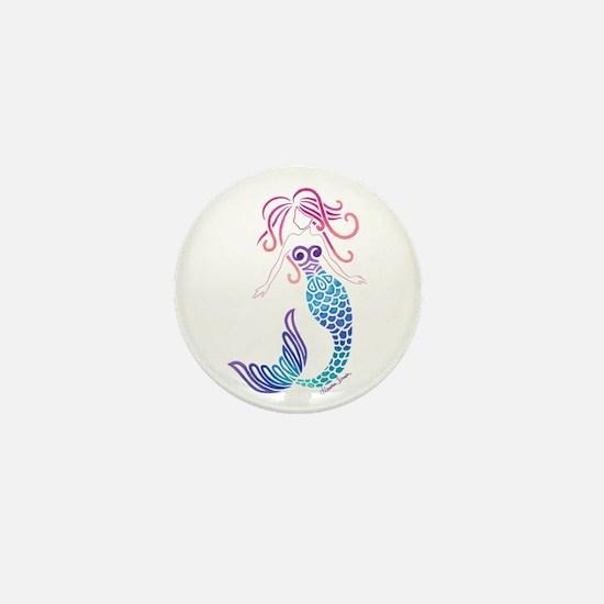 Tribal Mermaid Mini Button