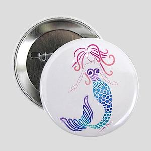 "Tribal Mermaid 2.25"" Button"
