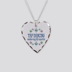 Tap Dancing Sparkles Necklace Heart Charm