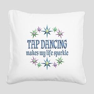 Tap Dancing Sparkles Square Canvas Pillow