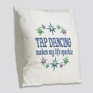 Tap Dancing Sparkles Burlap Throw Pillow