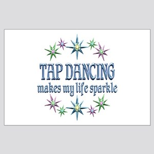 Tap Dancing Sparkles Large Poster