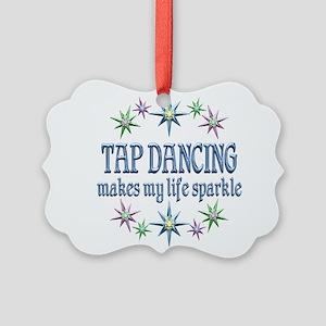 Tap Dancing Sparkles Picture Ornament