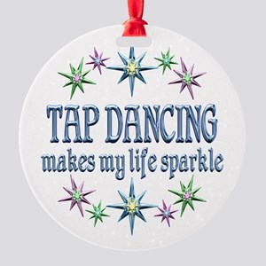 Tap Dancing Sparkles Round Ornament