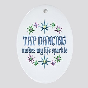 Tap Dancing Sparkles Ornament (Oval)